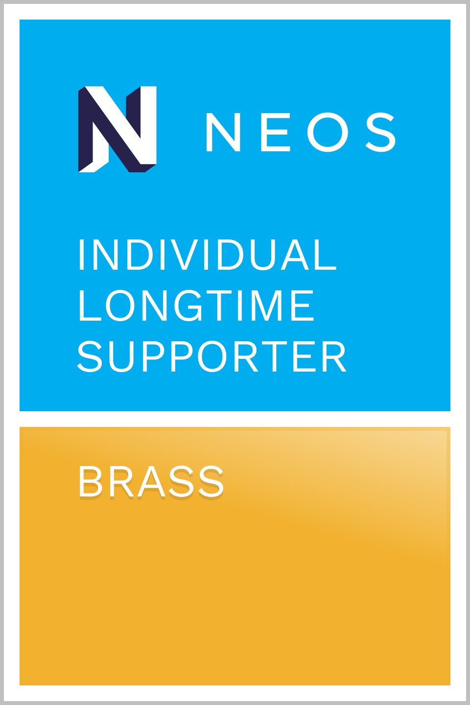 Rene Rehme - Neos Longtime Supporter - Brass
